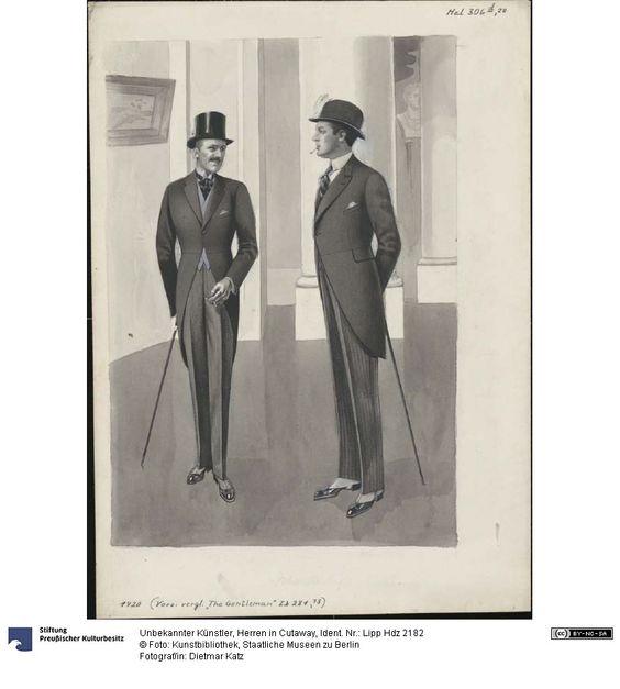 Herren in Cutaway, 1920