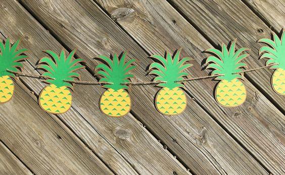 Guirlande ananas Bannière d'ananas Decor par EndearingCreations3