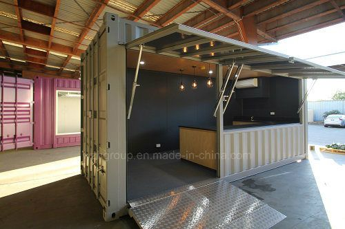 Hot Item Convenient Pop Up Shipping Container Cafe Bar Shops Container Shop Container Cafe Shipping Container Cafe