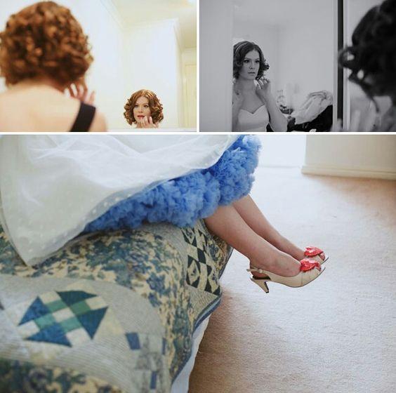 Elizas blue tulle 50s style dress