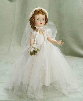 American hard plastic Margaret Bride by Alexander, circa 1948