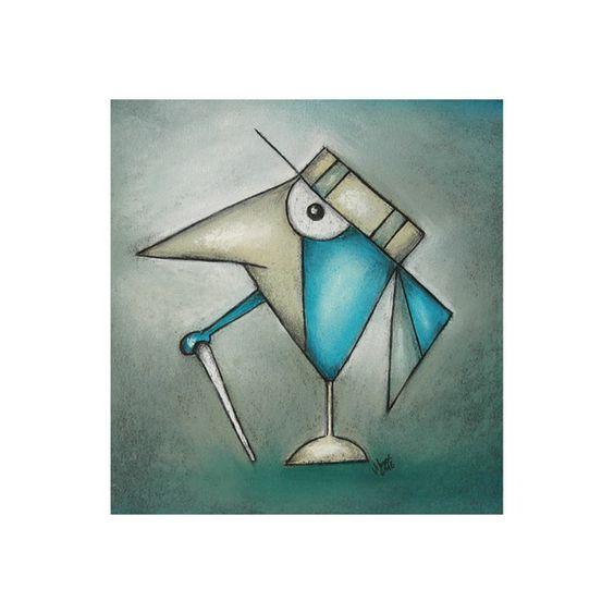 Bilderrahmen - Mit Stock und Hut - Original Zeichnung - ein Designerstück von ninaboosart bei DaWanda