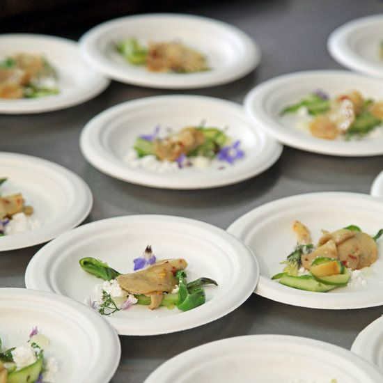 Abalone With Bone Marrow and Asparagus: Before taking a bite, we first ate Best New Chef Jamie Malone's dish of abalone with bone marrow, asparagus, yuzu, and chile with our eyes.