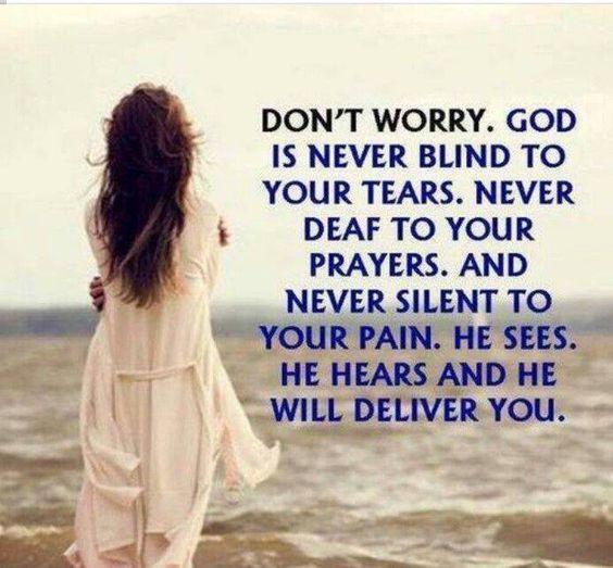 God is never blind
