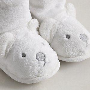 Lumi Polar Bear Baby Booties from The White Company