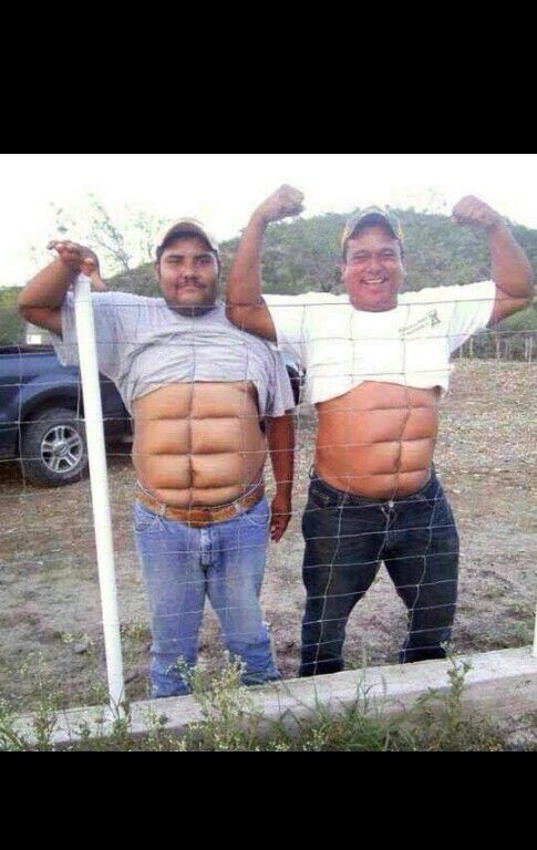 An 8 pack! So funny!
