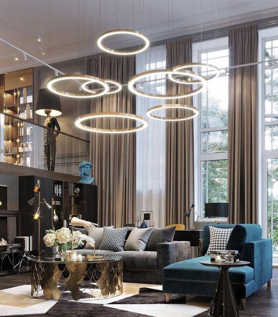 Luxury Chandeliers Ceiling Lights Living Room Art Deco Interior Design Living Room Ceiling