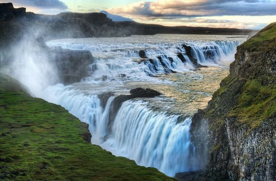 Alone at the Raging Waterfall of Gulfoss by Stuck in Customs, via Flickr