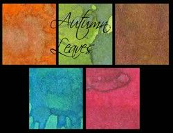Lindy's Stamp Gang; Autumn Leaves Shot set - vivid two tone!