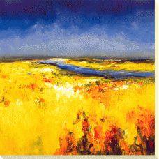 Lisa Ridgers - Sunlit Fields Box Canvas