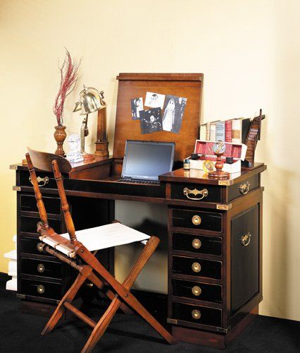 "Amazon.com: Travel Desk 'Madras' 48"" - Nautical Tables & Desks - Nautical Decor Home Decoration - Executive Promotional Gift: Furniture & Decor"