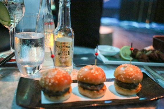 The mini Wagyu Burgers Were Delicious