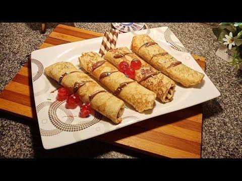 طريقة عمل الكريب بالنوتيلا والموز احلى من الجاهز من مطبخ عبير النمر Youtube Food Sausage Chicken Wings