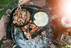 Campfire breakfasts can't be beat.