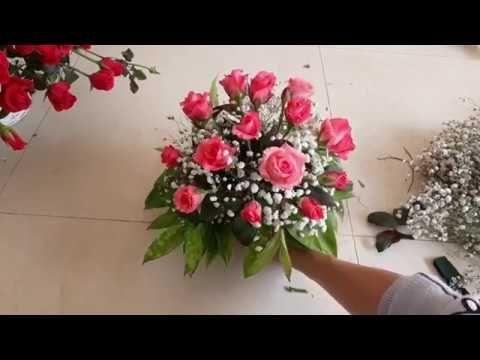 Cắm Hoa Cach Cắm Cốc Hoa Hồng để Ban Youtube Flower Arrangements Floral Arrangements Floral Wreath