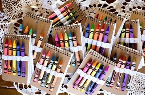 Have guest book attendants hand out to each child at the reception to keep them entertained.