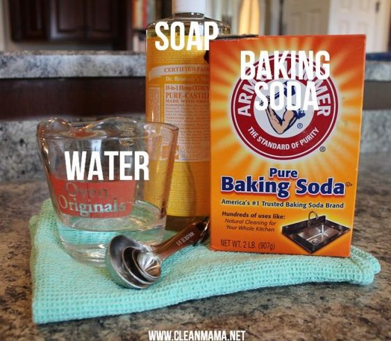Baking soda cleaning recipe to clean your oven