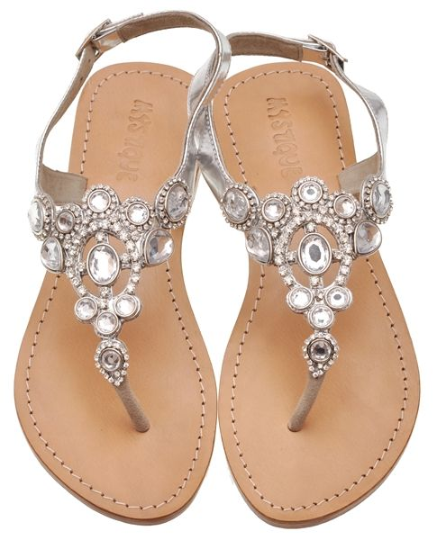 42fa0d89182 Gorgeous Silver Crown Sandals Maybe a little too much bling