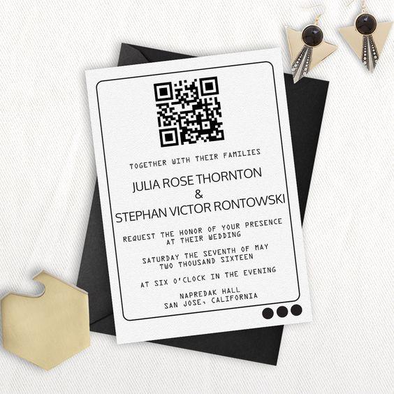 Convite com QR Code