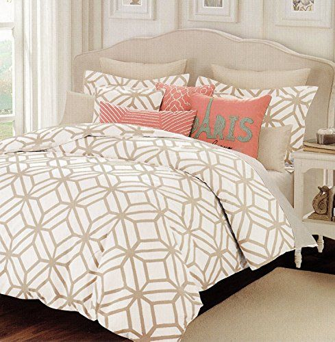 Max Studio Modern Lattice Geometric Pattern 3pc King Cal