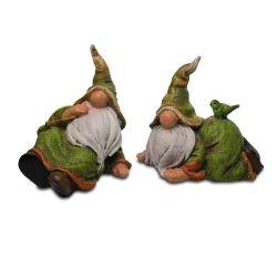 Gardens2you Pike /& Pine the Woodland Loving Garden Gnome Figurine Ornament Pair