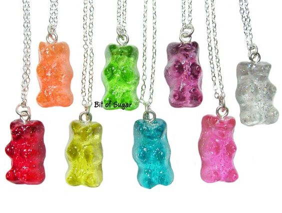 Candy Bear Necklace Kawaii Fälschung Gummibärchen von BitOfSugar
