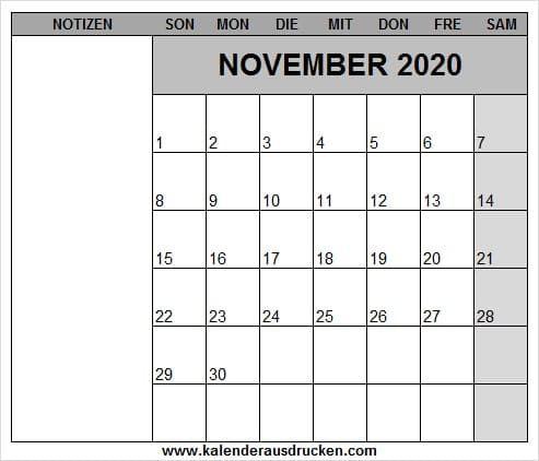 Kalender November 2020 Deutsch Kalender 2020 Mit Feiertagen Kalender Deutscher Kalender Kalender Vorlagen