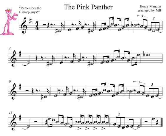 pink panther noten
