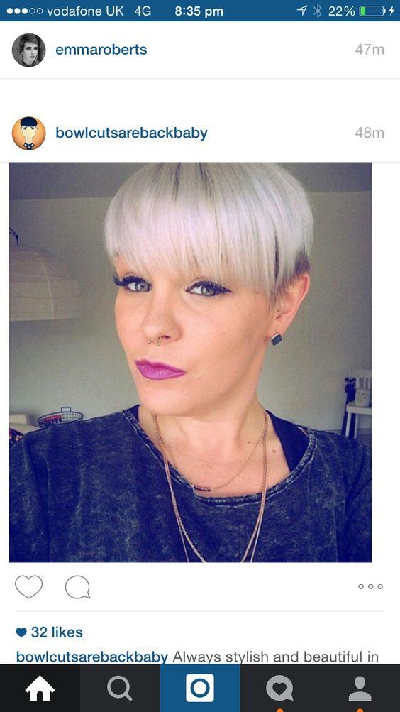 Purdy Bowl Cut Hair Colour And Cut Inspiration