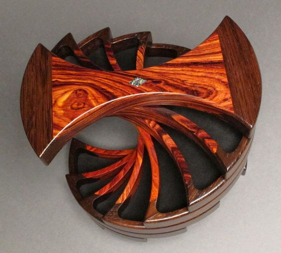 Jewelry Box with Secret Compartments Wenge and by watswood on Etsy, $485.00