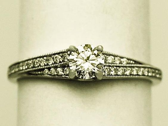 0.33 ct Diamond and Platinum Solitaire Ring - Vintage Circa 1980 and Contemporary SKU: W6948 Price GBP £1,995.00 http://www.acsilver.co.uk/shop/pc/0-33-ct-Diamond-and-Platinum-Solitaire-Ring-Vintage-Circa-1980-and-Contemporary-150p5710.htm#.VDUL1PldXHU