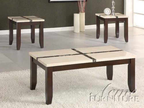 3-pc pack faux marble top coffee table set acs106558click2go