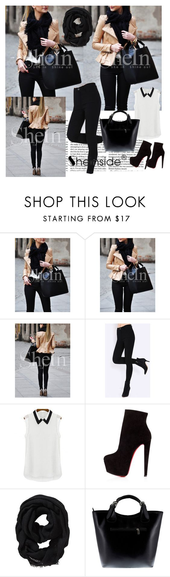 """""""Sheinside 2/III"""" by aneela-57 ❤ liked on Polyvore featuring Victoria Beckham, Christian Louboutin, Old Navy and Massimo Castelli"""