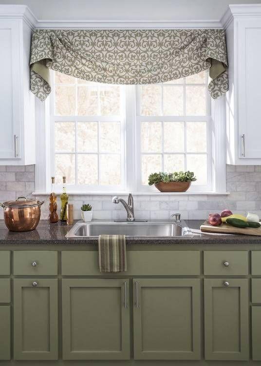 Kitchen Valance Ideas Kitchen Window Valances Valance Window Treatments Farmhouse Style Kitchen Cabinets