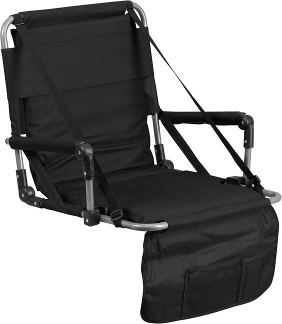 Folding Stadium Chair in Black-Folding Stadium Chair in Black