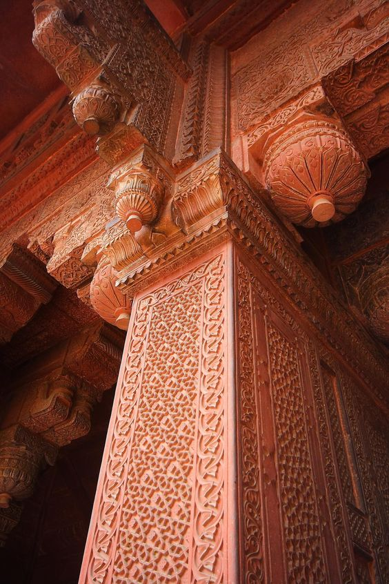 Temple ~ Carved wood column
