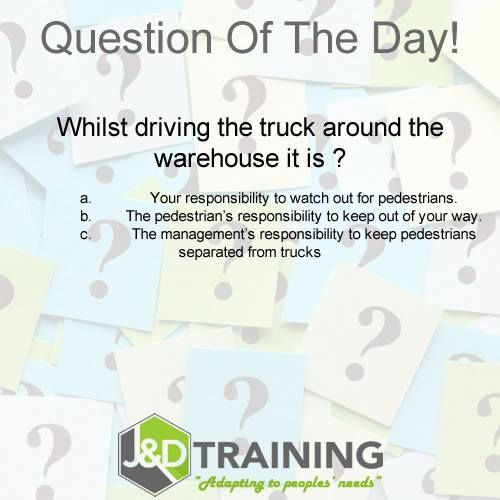 Forklift question of the day 8 from http://ift.tt/1HvuLik #forklift #training #safety #jobsearch