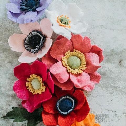 Anemone Coronaria Intermediate Pdf Pattern Wedding Bouquets Pink Purple Wedding Bouquets Yellow Wedding Bouquet