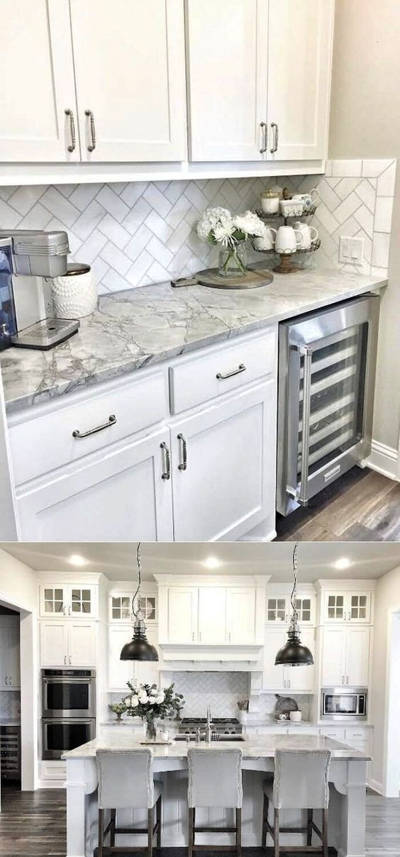 48 Inspiring Cottage Kitchen Cabinets Ideas With Country Style In 2020 Kitchen Remodel Small Kitchen Cabinets Decor White Kitchen Design