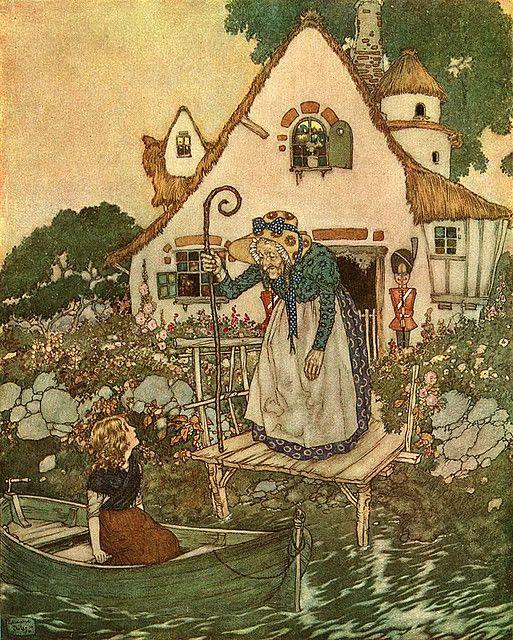 """""""Die Schneekönigin"""", Märchen von Hans Christian Andersen - Illustration von Edmund Dulac (1882 -1953)"""