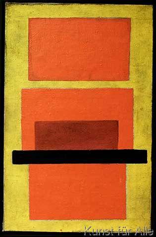 Olga Wladimirowna Rosanowa - Gegenstandslose Komposition (rot und gelb)