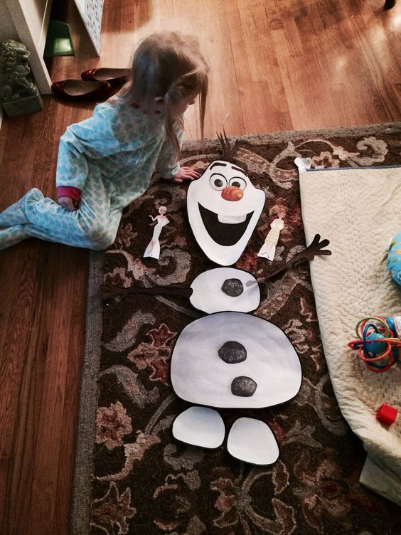 Had the printable build an Olaf PDF printed at Staples for ...