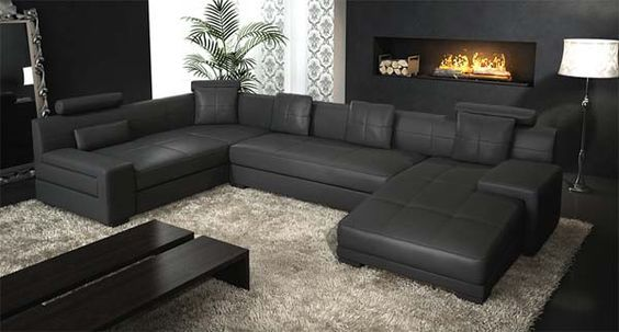 20 Cool Sectional Leather Couch Ideas | Black leather sofas ...