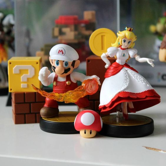 Fire Mario & Fire Peach ~ A couple of the simpler repaints I finished these last few days. Been working overtime with these customs & I ended up painting 15 in four days, all prep for the con this month! Still have so much to work on and finish though. Just not enough time in the day D: And since I only upload finished shots like this to this account, I've been uploading my wips to @pixelcolliedea for those intetested!