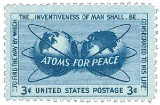 """On December 8, 1953, President Dwight D. Eisenhower delivered his """"Atoms for Peace"""" speech, introducing his goal of using nuclear power for peace. The """"Atoms for Peace"""" speech aimed to remove the fear of nuclear attack by showing alternate uses for the technology."""