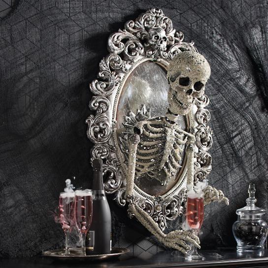 Sorceress Skull Framed Mirror - Grandin Road Holiday Decor