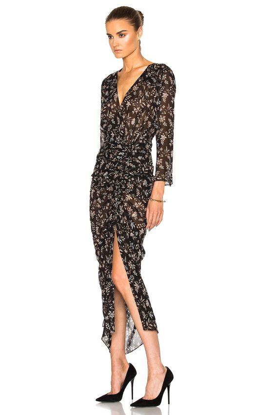 Image 2 of Veronica Beard Merrill Drawstring Dress in Black Multi