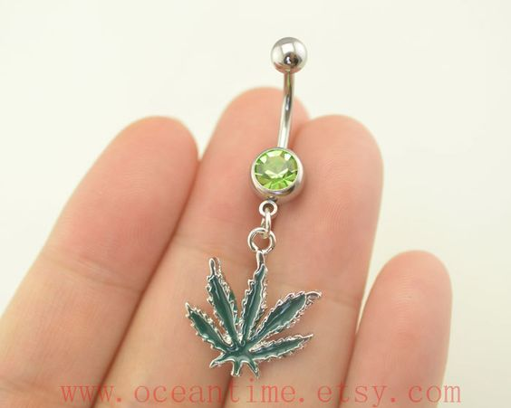 bellybutton ringmaple leaf belly button ringsmaple by OceanTime