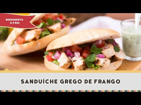 Sanduíche Grego de Frango - Receitas de Minuto #275 - YouTube