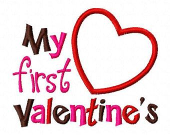 my first valentines day heart applique machine embroidery design 4x4 and 5x7 valentines day applique pinterest machine embroidery applique - First Valentines Day